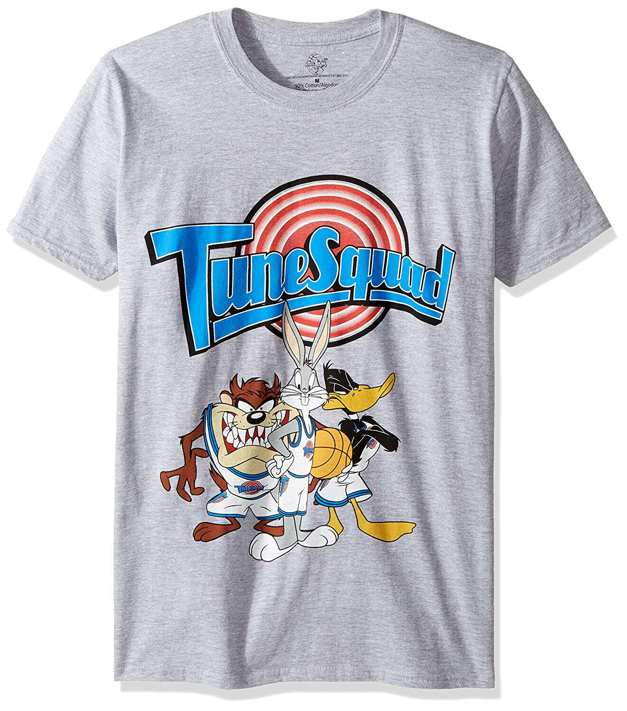 81ac6d8d08e5c6 Men s 90s Space Jam Michael Jordan MJ Bugs Bunny Toon Tune Squad Gray T- Shirt