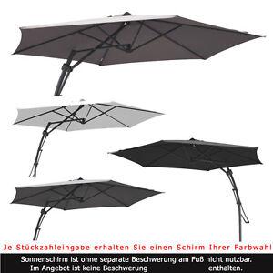 3m ampelschirm hm sonnenschirm rund 300 cm hebelmechanik schirm gartenschirm. Black Bedroom Furniture Sets. Home Design Ideas