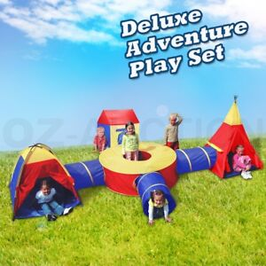 Large-Play-Tent-Kids-Toddlers-Teepee-Tunnel-Pop-Up-Children-baby-Cubby-Playhouse