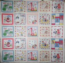 "Cotton Quilt Fabric Panel Children's Print 2001 CLASSIC COTTONS  26"" x 45"""