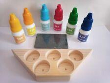Test Stone Wooden stand 6 Gold Tester Kit Acid 10k12k14k18k20k22k