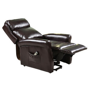Electric Luxury Power Lift Recliner Chair Leather Lazy ...
