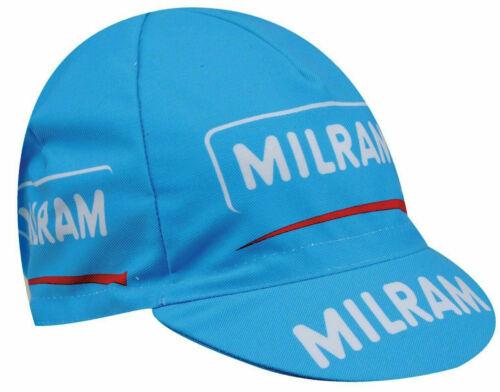 Milram Men/'s Pro Team Retro Euro Cycling Cap Hat