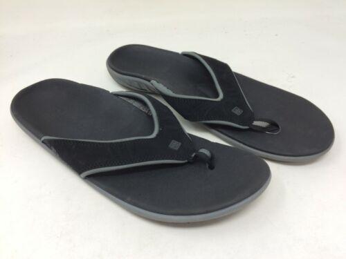 Men/'s Spenco Yumi Sandal Black//Gray M65 New!