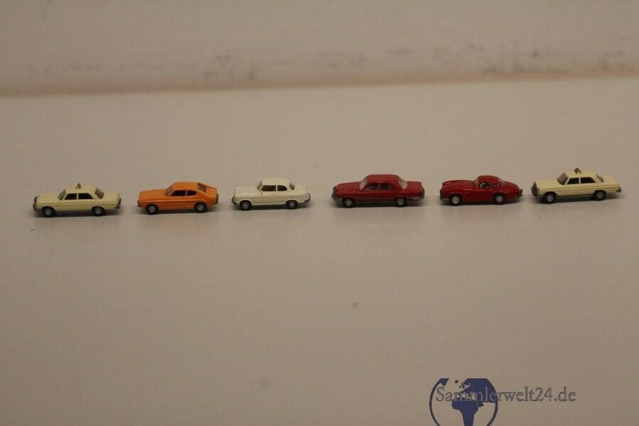 6 Piece Assorted Wiking model cars
