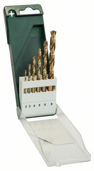 Bosch 6tlg. Metallbohrer-Set HSS-TiN, DIN 338