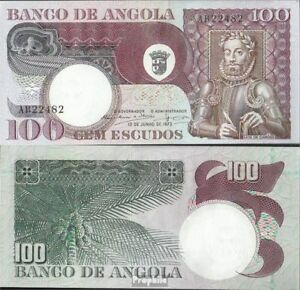 Angola Pick-nr Paper Money: World Coins & Paper Money 106 Bankfrisch 1973 100 Escudos Luxuriant In Design