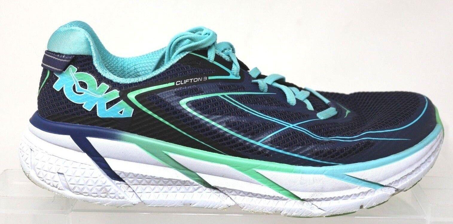 Hoka One One W Clifton 3 Blau Aqua Neutral Running Schuhes Damenschuhe Größe 8