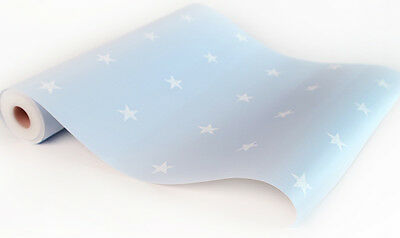 Blue Star Look Contact Paper Self Adhesive Wallpaper Roll Vinyl Wallcovering