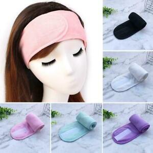 Einstellbare-Frottierbad-Klettverschluss-Stirnband-Gesicht-waschen-Haarband-N5R0