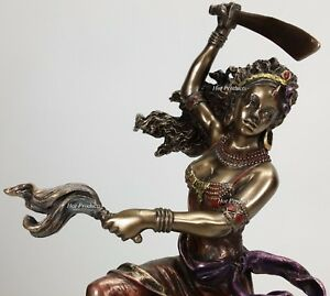ORISHA-OYA-Goddess-of-Wind-W-Sword-Yoruba-African-Statue-Sculpture-Bronze-Color