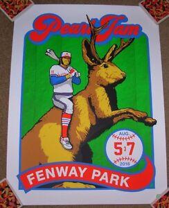 PEARL-JAM-concert-gig-poster-print-BOSTON-FENWAY-PARK-2016-Ames-Bros-bucky