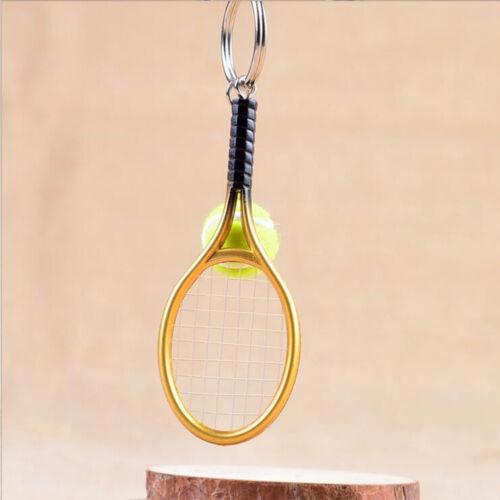 New Keyring Mini Tennis Racket Pendant Keychain Key Accessory Perfect Gifts