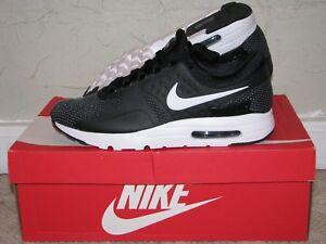 big sale 87e5c 717b0 Image is loading Nike-Air-Max-Zero-Essential-Black-White-Grey-