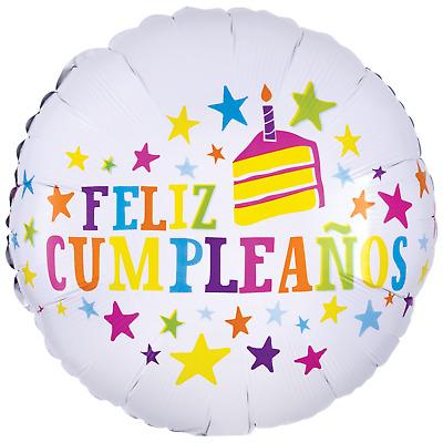 Stupendous 18 Feliz Cumpleanos Balloon Birthday Cake Balloon Spanish Funny Birthday Cards Online Inifodamsfinfo
