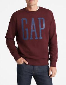 Gap-Men-039-s-Logo-Pullover-Sweatshirt-Dark-Red