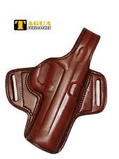 "Colt 1911 Clones Holster 5"" Brown Leather Cocked & Locked Right Tagua BH1-217"