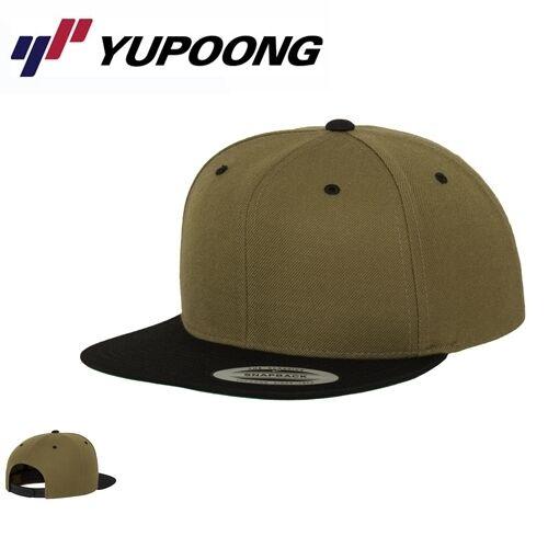 Yupoong Classic 2 Tone Snapback Cap Olive Schwarz