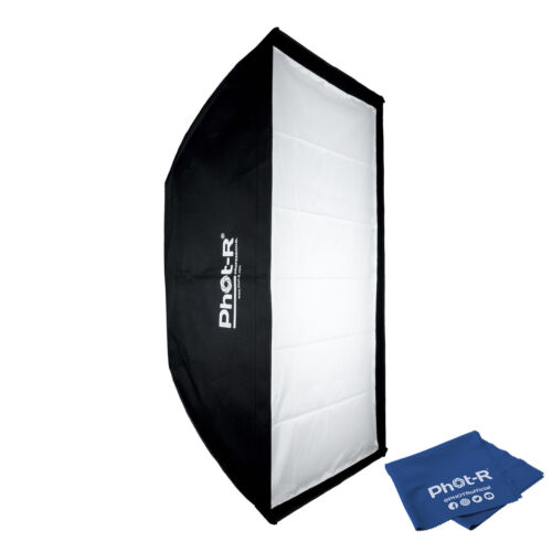 Photr 80x120cm Tira Softbox elinchrom Monte Speedring Iluminación Paño de Microfibra