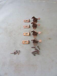 Lot-of-4-VTG-Elbow-Latch-Catch-Hoosier-Cabinet-Cupboard-Hardware-NOS-w-screws