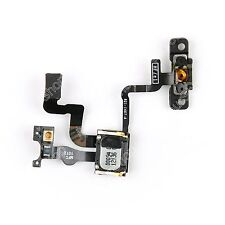 Power Lock Button Flex Cable With Earpiece & Bracket Sensor For iPhone 4S