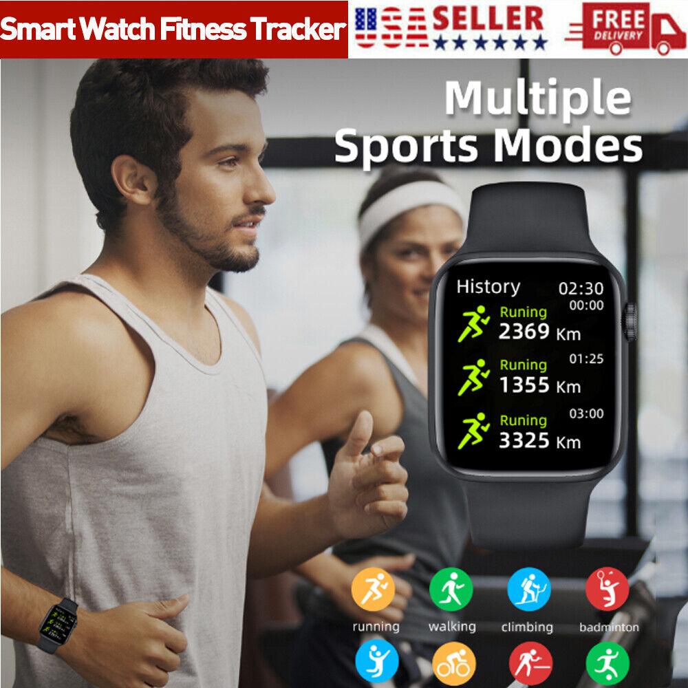 Smart Watch Fitness Tracker Blood Pressure Heart Rate Moniter Bluetooth Call USA
