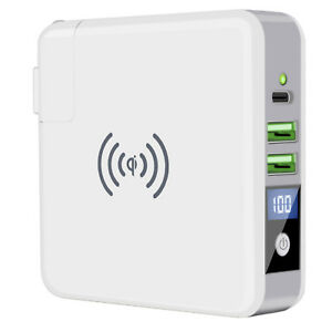 Qi-Wireless-Fast-Charging-Power-Bank-Portable-Battery-Charger-Dual-USB-Type-C
