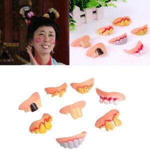 8pcs Künstliche Zähne Scherzzähne Scherzartikel Spaßartikel,