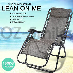 Image Is Loading Zero Gravity Outdoor Portable Foldable Reclining Lounge Camping