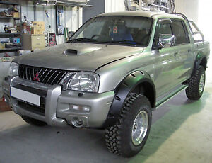 Wide fender flares wheel arches for MITSUBISHI L200 1996–2005 double