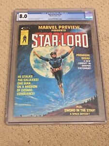 Marvel Preview 4 CGC 8.0 OW/White Pages (1st app of Star-Lord) CGC #001 + magnet