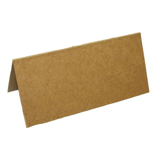 100 Blank Table Name Place Cards, Recycled Kraft Ideal For Parties Or Wedding's