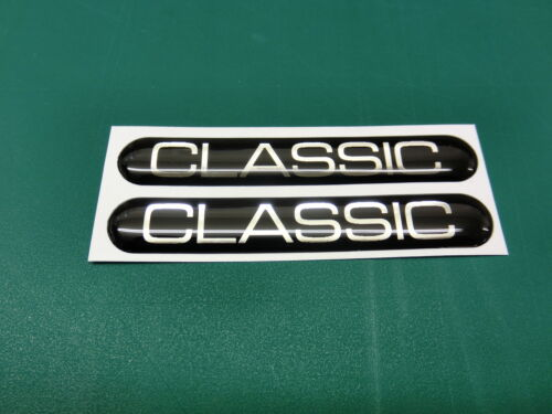 2 CLASSIC DOMED STICKERS