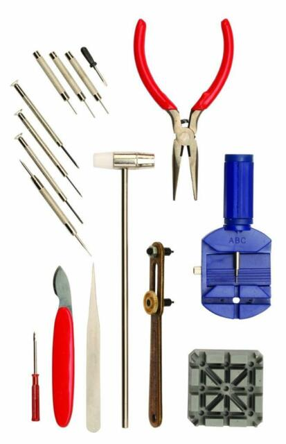 Optima 55 130 economic 16 watch tools watch repair kit ebay watch repair tool kit 16 pieces for the do it yourself and collector solutioingenieria Images
