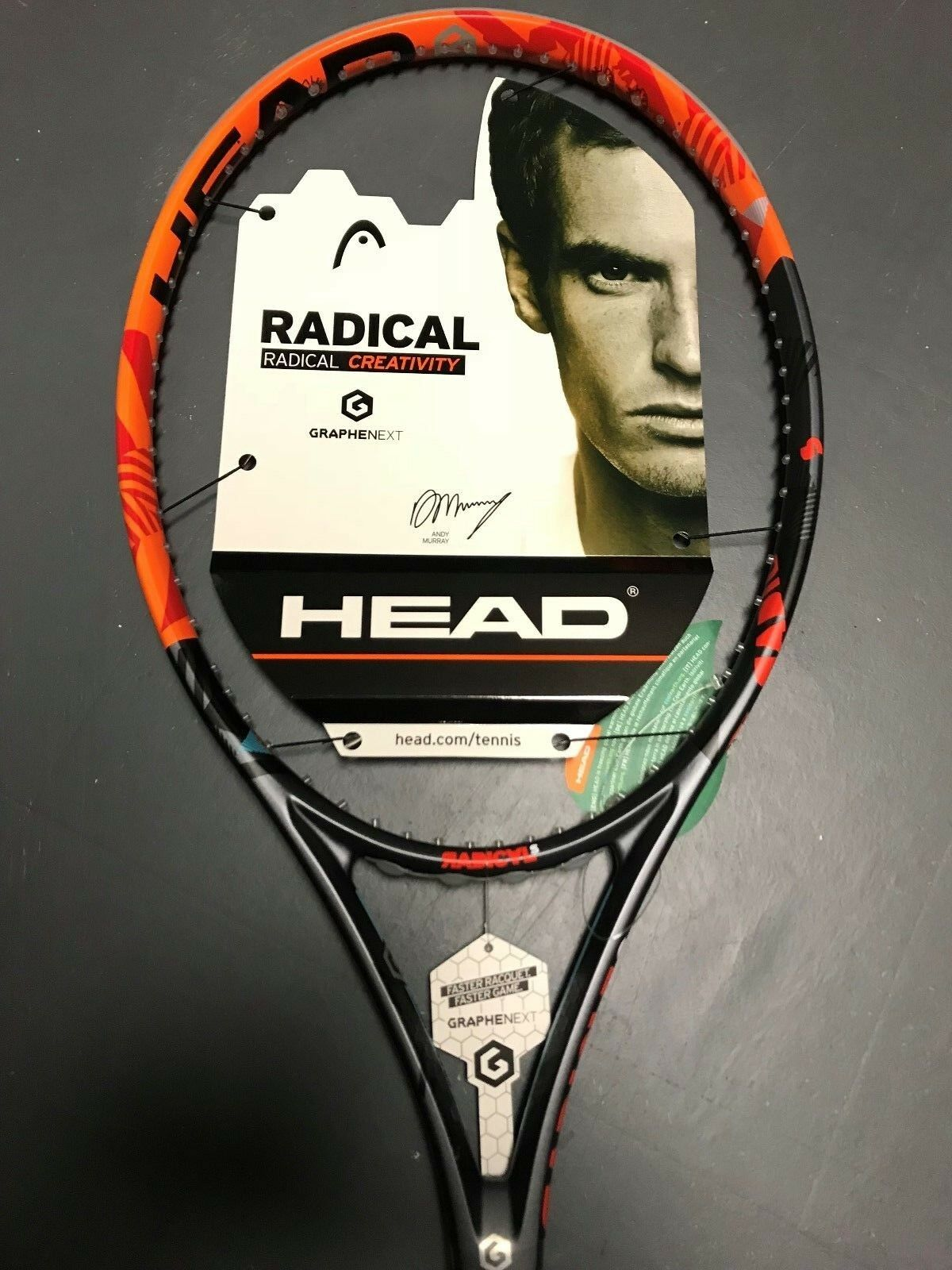 Head Graphene XT Radical S Tennis Racquet Grip Size 4 3 8