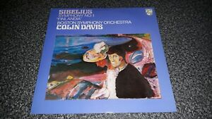 SIBELIUS-Symphony-No-1-Finlandia-Colin-Davis-MINT-Philips-LP-1976