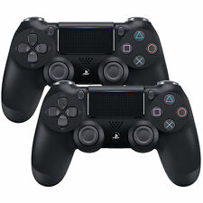 2-Pack of DualShock 4 Wireless Controllers, PlayStation 4 - Jet Black (CUH-ZCT2)