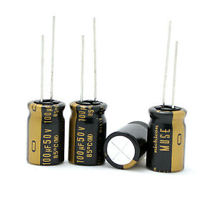 4PCS Japan NICHICON 220uF//50V Most High-end MUSE KZ Audio Electrolytic Capacitor