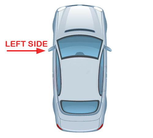 lado izquierdo SEAT Mii 2011 /> 2017 Puerta//Ala Espejo De Cristal Convexo Calentado /& Base De Plata