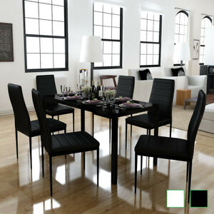 Vidaxl 7tlg Esstisch Essgruppe Sitzgruppe Esszimmer Stuhl Tischset