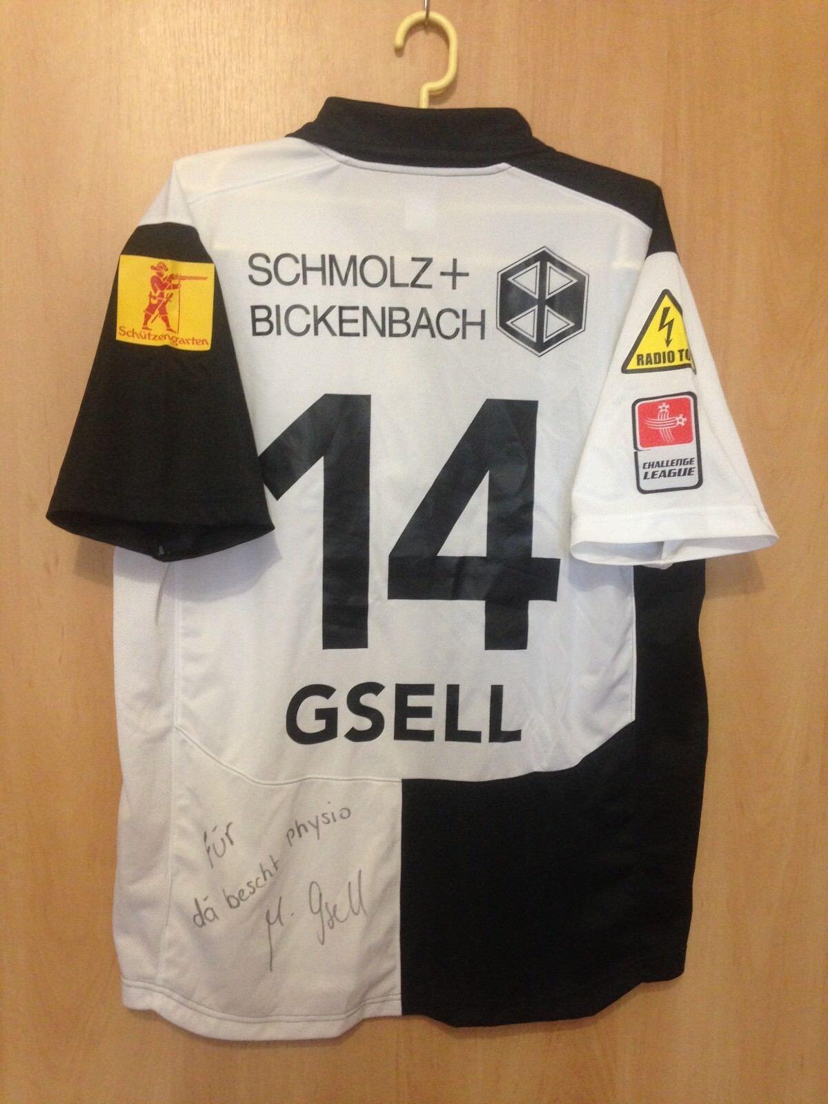 FC WIL 1990 SVIZZERA MATCH WORN SHIRT JERSEY TRIKOT firmato Markus Gsell  14