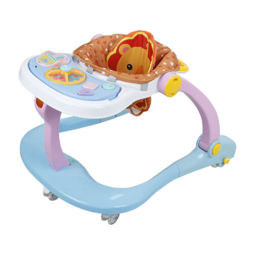 4 In 1 Multi Function Baby First Steps Walker Musical Toys Car /& Feed Station