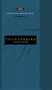 ford thunderbird owners manual user guide reference