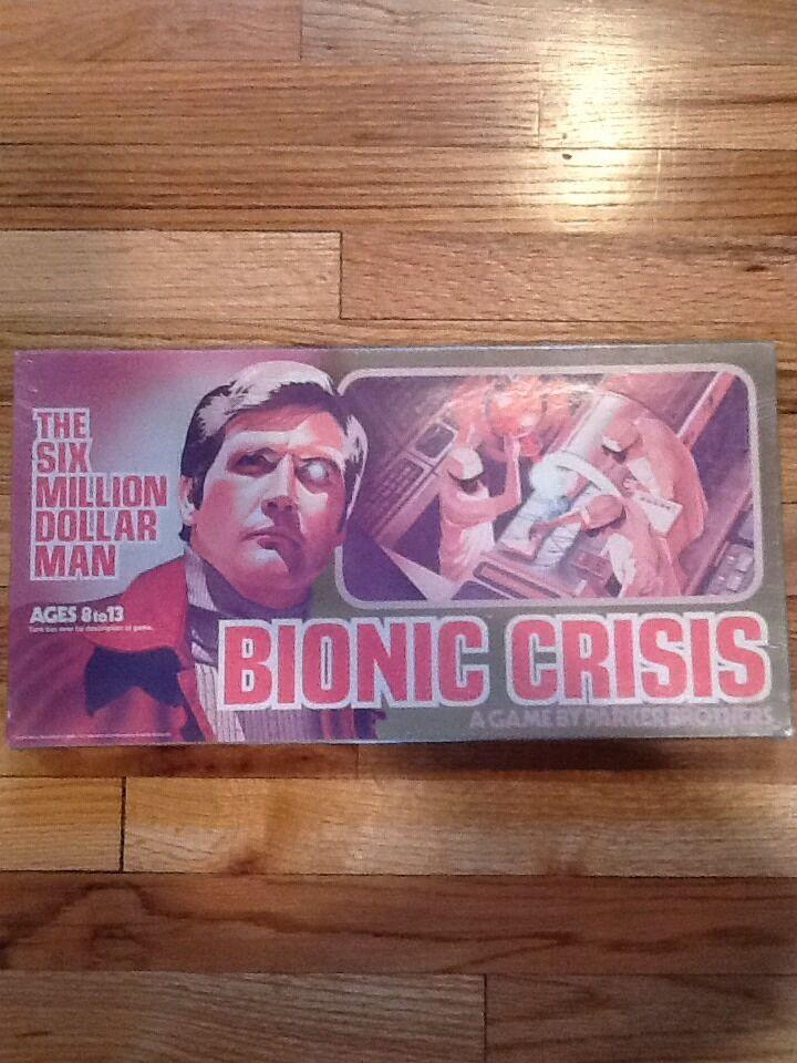 Sealed Vintage 1976 Six Million Dollar Man Bionic Crisis Parker Bredhers Game