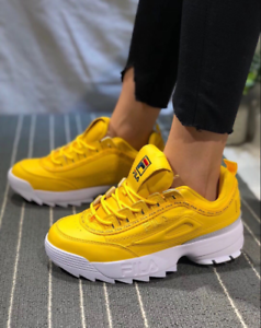 c9ffd356 Details about Womens Fila Disruptor II Premium Athletic shoesTrainers  yellow color #-21vioz