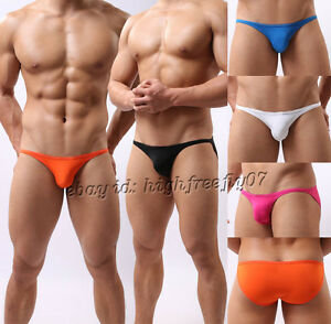 Men-Bikini-Swimwear-Swimsuit-Beachwear-Underwear-Smooth-amp-Thin-Mini-Swim-Briefs