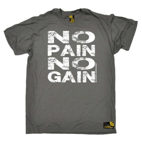 Gym Bodybuilding T-Shirt Funny Novelty Mens tee TShirt No Pain No Gain