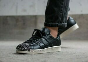adidas superstar leather toe