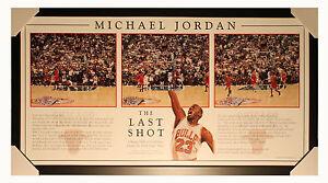 NBA -  Michael Jordan -The Last Shot - Framed Historic Print - Ready to Hang