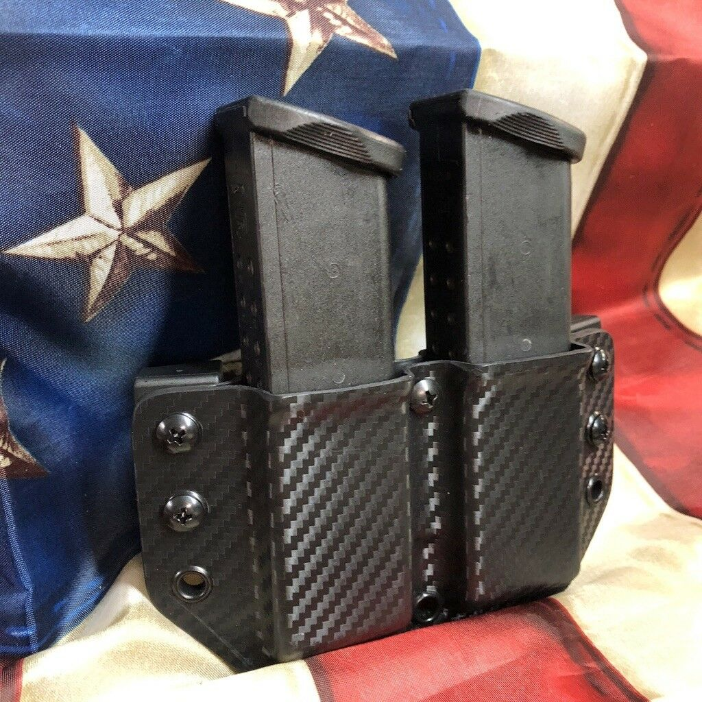 Carbon Fiber Double Mag Magazine Carrie for Smith & Wesson SW Models 1441 Gear